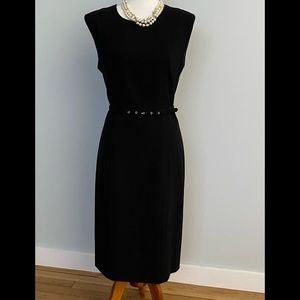 Peck & Peck black belted dress.